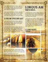 Agriculture and Animals: Winegrowing Flyer Template #06049