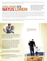 People: Modelo de Folheto - pai e crianças #06118