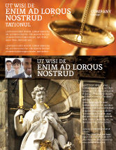 Legal: Lady Justice Flyer Template #06281