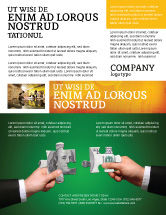 Financial/Accounting: Modelo de Folheto - enigmas do dinheiro #06367