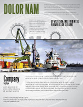Cars/Transportation: Shipyard Flyer Template #06499