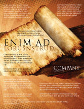 Education & Training: Ancient Scroll Flyer Template #06539