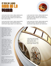 Art & Entertainment: Film Reel In Light Brown Color Flyer Template #06599