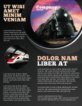 Cars/Transportation: Steam Locomotive Flyer Template #06610