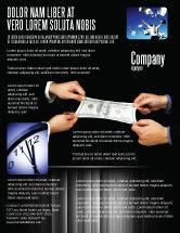 Business: Modelo de Folheto - esticando uma centena de dólares #06646