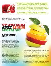 Food & Beverage: Modelo de Folheto - maçã cortada #06731