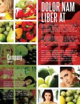 Food & Beverage: Modelo de Folheto - nutrição #06856
