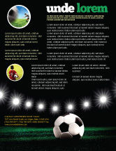 Sports: Football Stadium In The Night Flyer Template #06916