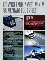 Cars/Transportation: Trailer Trucks Flyer Template #06923