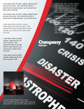 Financial/Accounting: Catastrophe Speedometer Flyer Template #06936