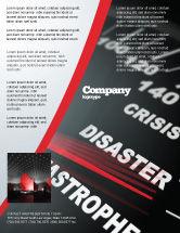 Financial/Accounting: Modelo de Folheto - velocímetro de catástrofe #06936