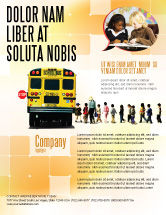 Education & Training: School Bus Stop Flyer Template #06967