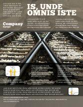 Cars/Transportation: Railways Flyer Template #07027