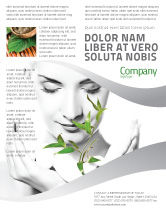 Nature & Environment: Bio Cosmetics Flyer Template #07032