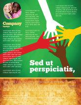 Religious/Spiritual: Modelo de Folheto - unidade racial #07178