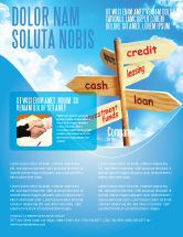 Financial/Accounting: Credits and Loans Flyer Template #07279