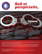 Legal: Computer Crimes Flyer Template #07286
