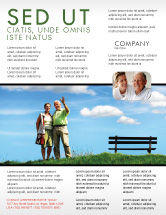 People: Old Couple Flyer Template #07405