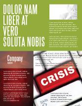Financial/Accounting: Modelo de Folheto - botão da crise #07410