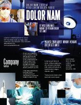 Medical: Operation Room In Dark Blue Flyer Template #07560