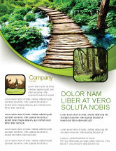 Business Concepts: Wooden Path Flyer Template #07621