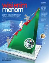 Business Concepts: Modelo de Folheto - aumento das taxas de histograma 3d #07652