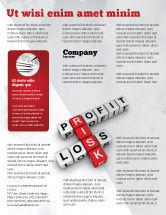 Financial/Accounting: Modelo de Folheto - lucro e risco #07669