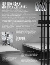 Legal: Prison Cell Flyer Template #07771