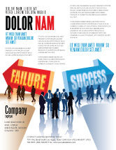 Education & Training: Failure and Success Flyer Template #07789