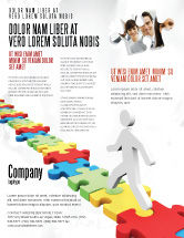 Careers/Industry: Jigsaw Path Flyer Template #07872