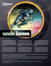 Sports: Running Iron Man Flyer Template #07928