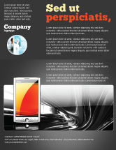Technology, Science & Computers: Touchscreen Phone Flyer Template #08125