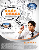 Consulting: Modelo de Folheto - planejamento de sucesso de negócios #08235