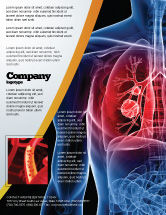 Medical: Lung Cancer Flyer Template #08239