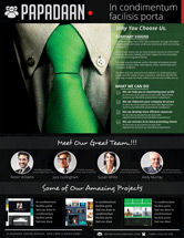 Business: Black Minimalist Corporate Flyer Template #08433