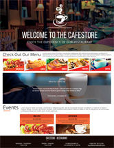 Food & Beverage: Cafe store werbung Flyer Vorlage #08436