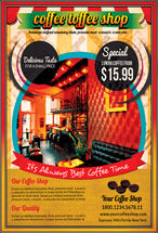 Food & Beverage: Retro Style Coffee Shop Flyer Template #08445