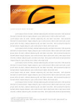 Financial/Accounting: Yellow Colored Euro Currency Letterhead Template #00081