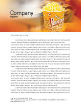 Art & Entertainment: Popcorn Letterhead Template #00962