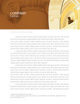 Art & Entertainment: Column Letterhead Template #01393