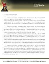 America: Cowboy Letterhead Template #01588