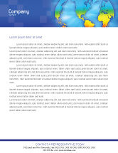 Global: Continental Letterhead Template #01593