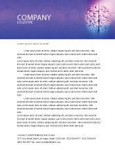 Medical: Brain Letterhead Template #01606