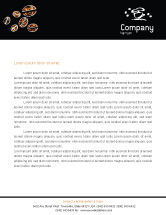 Food & Beverage: Coffee Beans In A Bag Letterhead Template #01613