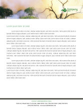 Nature & Environment: Forest Fire Letterhead Template #01636