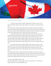 Flags/International: Canadian Flag Letterhead Template #01654