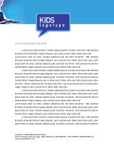 Technology, Science & Computers: Computer and Kid Letterhead Template #01695