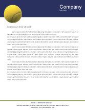 Sports: Tennis Letterhead Template #01697