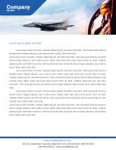 Military: Fighter Aircraft Letterhead Template #01747