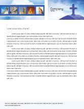 Religious/Spiritual: Blue Cross Letterhead Template #01804